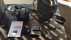 Nikon D3300 camera body and accessories for sale
