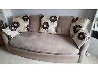 SCS. 3 seater sofa and cuddle sofa