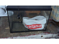 glass fish tank with lid