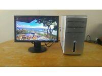 HP DC7800 Ultra Slim Form Computer Desktop PC & 19 LCD