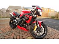 Triumph Street Triple R, FDSH, Arrow Exhaust, Tail Tidy, Radiator Cover, Bobbins, and More.