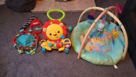 (Baby walker sold) baby door bouncer £5 baby mat £5