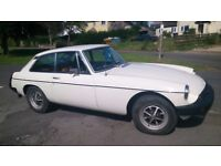 1980 MGB GT, very original, undersealed, many new parts, respray, MOT April '18