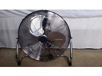 Fan - Large electric metal chrome fan 18 inches diameter