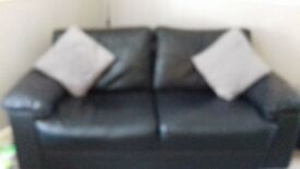 Black sofas for sale, good condition must be uplifted from storage unit in blackburn