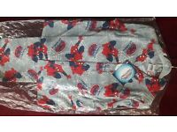SPIDER-MAN WINTER PYJAMA FLEECE MATERIAL AGE 7-8 YRS. NEW WITH TAG £5 TWO FOR £9.