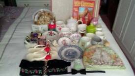 Job Lot approx 46 Car Boot Sale items, including Antique and Vintage items.