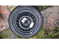 """Vauxhall Corsa rim 15"""" & New Continental Tyre 185 55 15 - Replacement for Space Saver / Worn Tyre?"""