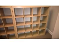 Ikea Expedit / Kallax 16 cube Shelving Unit Beech