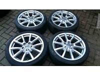 GENUINE 18 INCH ALLOY WHEELS 5X112 A3 A4 A5 A6 Q3 Q5 S4 S3 VW GOLF PASSAT T4 MERC SEAT