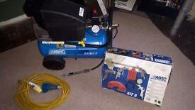 ABAC Air compressor 110v + paint kit 5