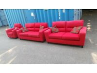 Red Fabric suite for sale,possible delivery
