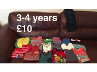 Boys bundle of clothes 3-4years