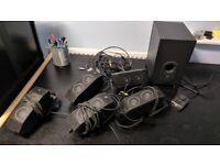 Logitech x-540 5.1 surround sound speaker system for PC computer