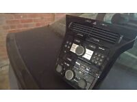 vauxhall astra h centre console with cd player and heater controls in piano black