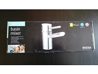 Bristan - Oval Basin Mixer with Eco-Click (no waste) - Chrome, NEVER USED!!!