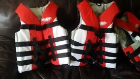 life jackets and wet suits