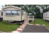 Deluxe Plus 3 bed Caravan with large decking area at Seton Sands Holiday Village,East Lothian.