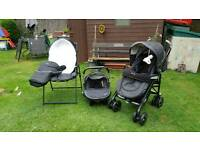 Sliver cross domino travel system for sale.