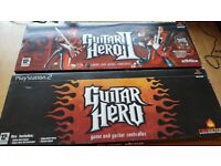 Guitar Hero 1 & 2 + 2 Guitars - Boxed - Mint condition