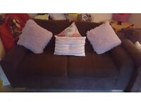 2 seater brown sofa brilliant condition