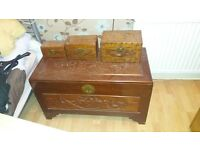 Chinese ottoman made from rosewood ideal for storage