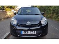Stunning 61 Plate, Nissan Micra Black, low mileage, on bargain price.