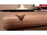 platanum 18k diamond ring unkown size
