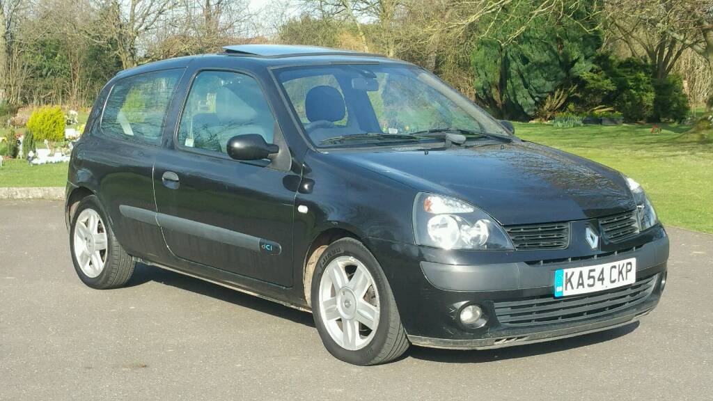 renault clio 1 5 dci dynamique 2005 12 months mot air con alloys turbo diesel only 10 tax per. Black Bedroom Furniture Sets. Home Design Ideas