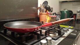 Gorgeous Le Creuset Cast Iron Frying Pan in Cerise