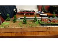 N gauge model railway. End to end