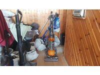 yellow DYSON DC25 MULTI FLOOR ROLLER BALL VACUUM CLEANER tools bagless 1 week guarantee