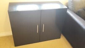 Sideboard Cabinet in Black matt / Fronts in Black High Gloss