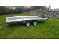NEW Car Transporter Trailer Recovery Flat bed 2700kg GVW 4.5 m long £2500 inc VAT