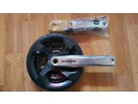 Shimano Crank Set With Free Brand New Crank Removal Tool and Lithium Grease