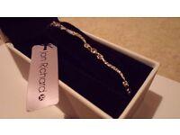 Brand new, unworn Jon Richard (at Debenhams) silver bracelet with diamantes