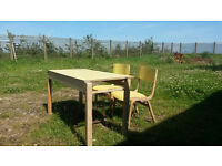Childrens chairs & tables