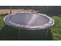 LARGE SILVER 10 FOOT TRAMPOLINE - GREAT FOR SUMMERTIME