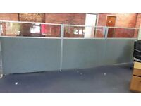 Office particians with glass perspex tops
