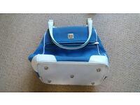 Diane Von Furstenberg Blue Suede Large Travel Bag
