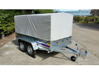 Twin axle 8,6ft x 4,4ft trailer box small camping car + 125 cm TOP COVER