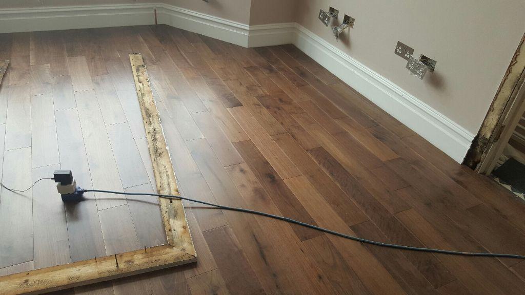 12 Sq Metres Of Brand New Engineered Walnut Wood Flooring Surplus