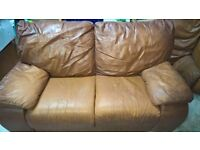 Brown Faux Leather Suite