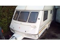 Lovely abi Dale's twin wheeler caravan ready to go