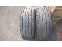 Pair of Sunny 225/40/18 tyres