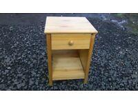 Lightweight pine bedside cabinet