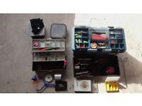 Fishing Tackle including two tackle boxes and full range of accessories - see decription