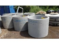 Concrete Chamber Manhole Ring 1050 mm x 1000 mm with steps. Soakway unit with 75mm diameter holes