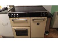 Cream stove electric oven