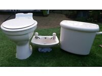 Cloakroom toilet and hand basin